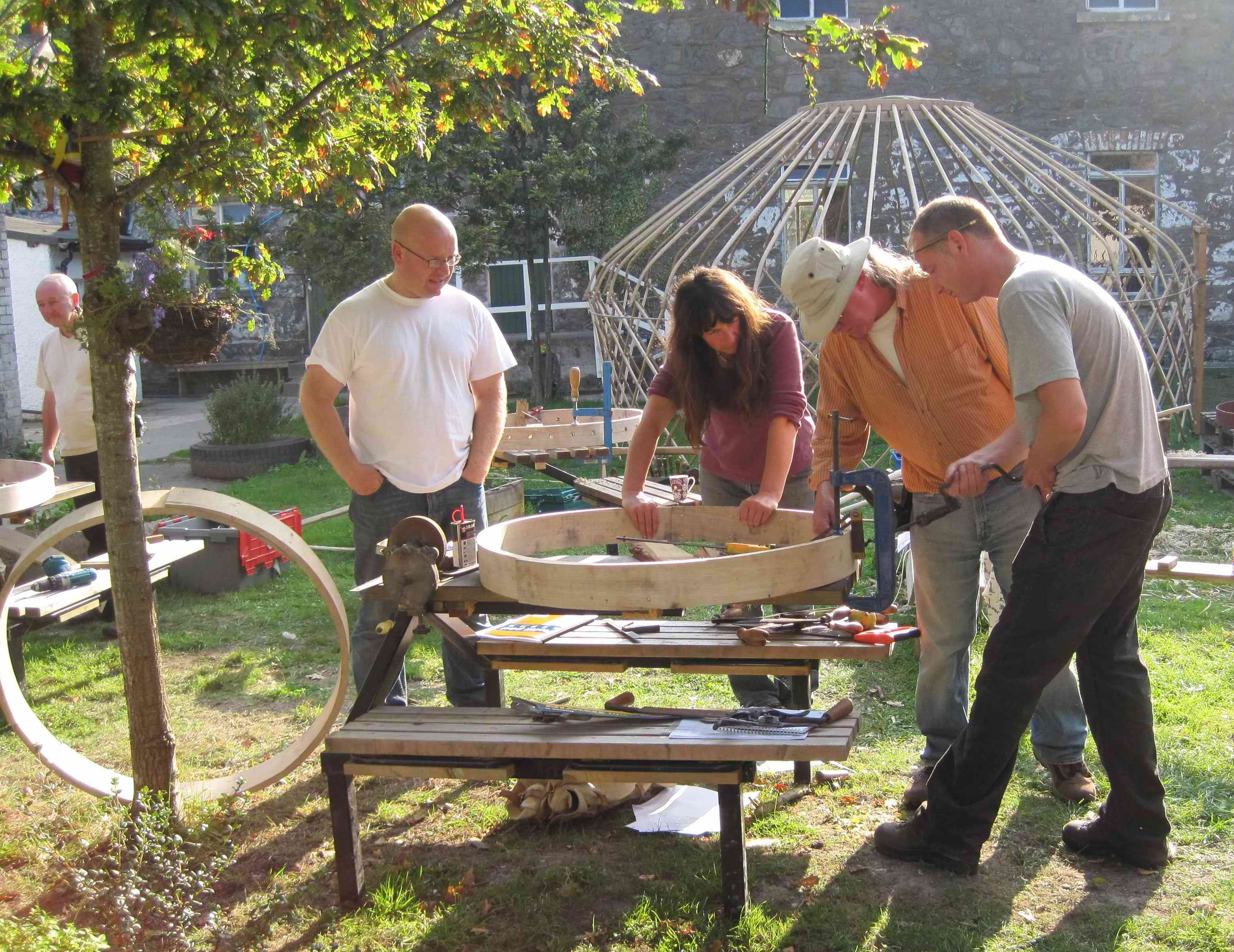 Dolydd yurt making reduced