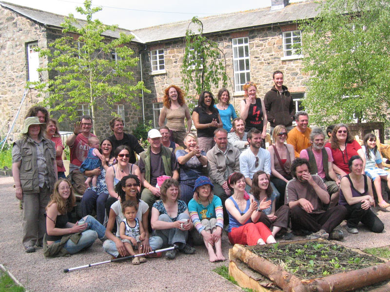 Permaculture study group at the Workhouse in 2009